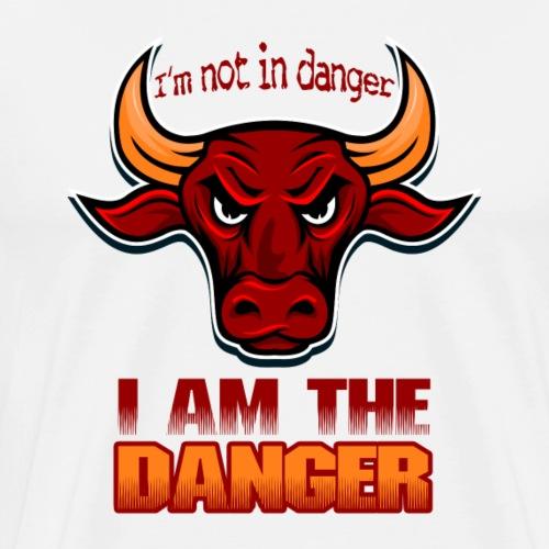 I AM THE DANGER buffalo bull - Men's Premium T-Shirt