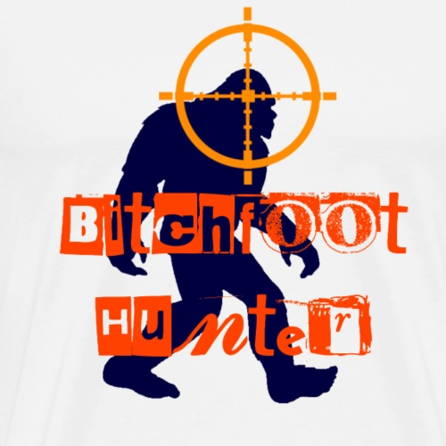 female dog bigfoot hunter - Men's Premium T-Shirt