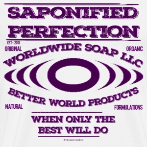 WorldwideSoapLLC Brand Print Saponified Perfection - Men's Premium T-Shirt