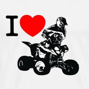 i love quad - T-shirt premium pour hommes