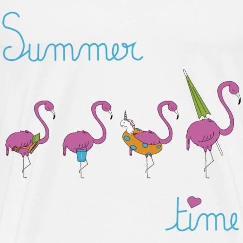 flamingo family to the beach summercontest - Men's Premium T-Shirt