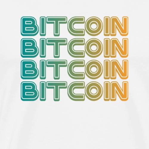 Bitcoin Art Deco Tshirt - Men's Premium T-Shirt
