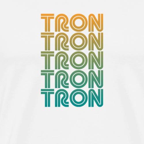 TRON (TRX) Art Deco Design Tshirt - Men's Premium T-Shirt