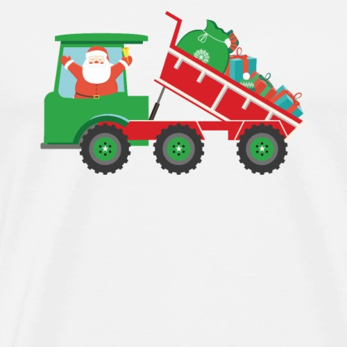 Merry Christmas Santa Delivers Dump Truck Presents - Men's Premium T-Shirt