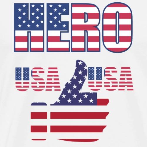 Hero of the USA - Like button - Men's Premium T-Shirt