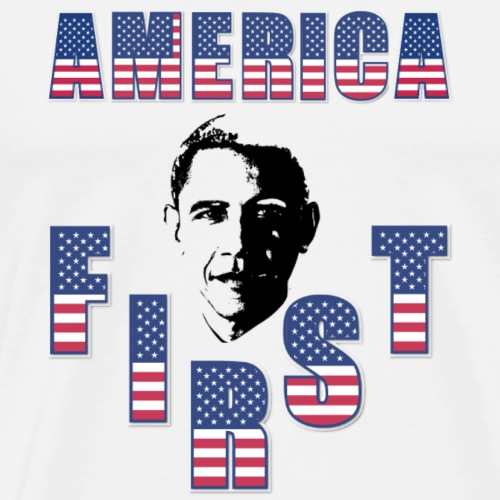 America First - Obama vs Trump Vote For President - Men's Premium T-Shirt