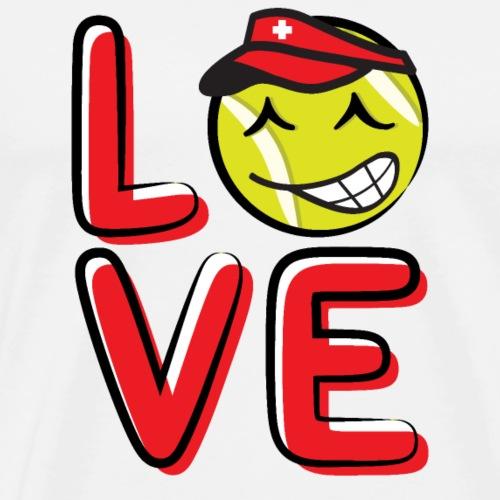 LOVE_Team_Swiss_Tennis Ball_Graphic - Men's Premium T-Shirt