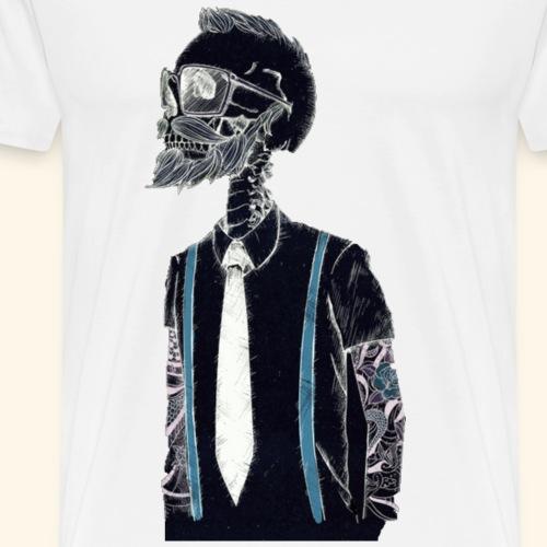 Hipster Skeleton - Men's Premium T-Shirt