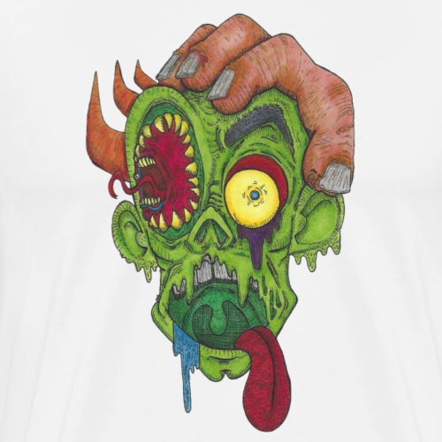 Psychedelic Zombie Head - Dominic Vizdos - Men's Premium T-Shirt