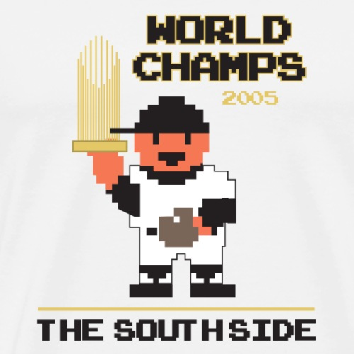 Vintage NES RBI Baseball South Side World Champs - Men's Premium T-Shirt