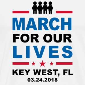 March For Our Lives Key West (4 White Shirt) - Men's Premium T-Shirt