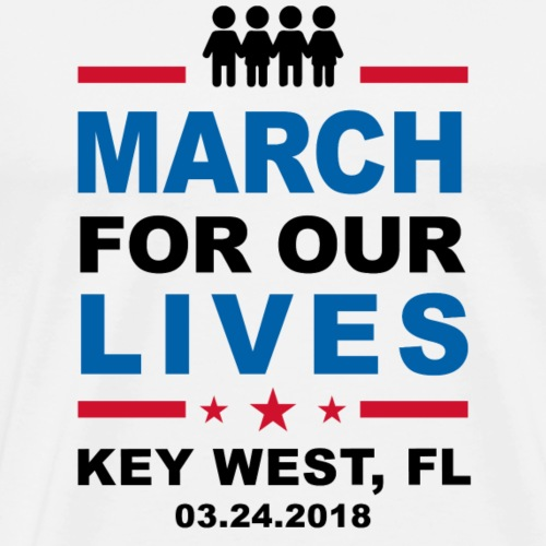 March For Our Lives Key West (4 White Shirt) - Men's Premium T-Shirt