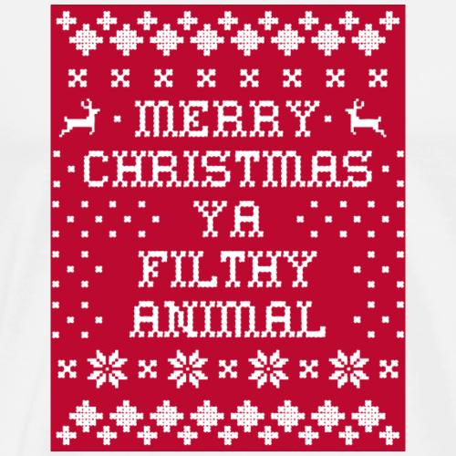 ugly merry christmas - Men's Premium T-Shirt