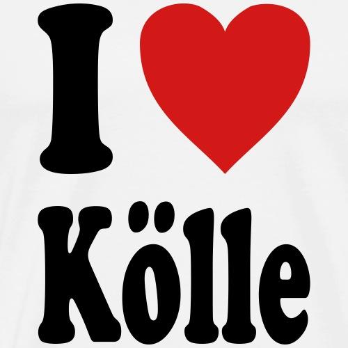 I love Koelle / Cologne (variable colors!) - Men's Premium T-Shirt