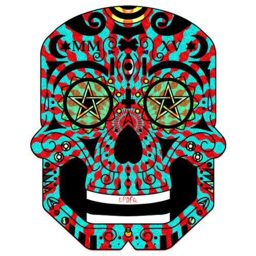 colorful Mexican skull - Men's Premium T-Shirt
