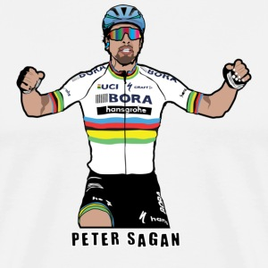 Peter Sagan Portrait, World Champion - Men's Premium T-Shirt