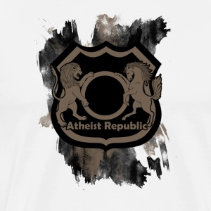 ARLogoBadgeBrown - Men's Premium T-Shirt