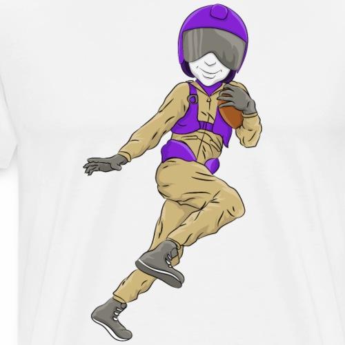 Aviator Mascot Football - Men's Premium T-Shirt