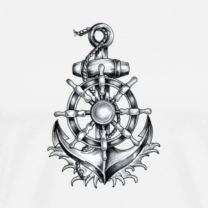 Anchor Tattoo 2 - Men's Premium T-Shirt