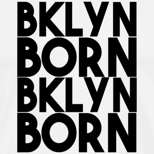 BKLYN Born Bold Repeat Black Graphic - Men's Premium T-Shirt
