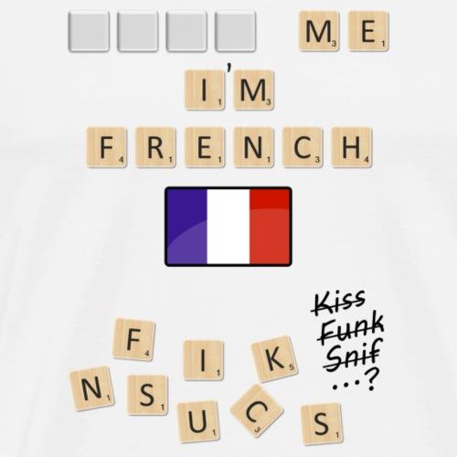 Scrabble me I'm French - Black version - Men's Premium T-Shirt