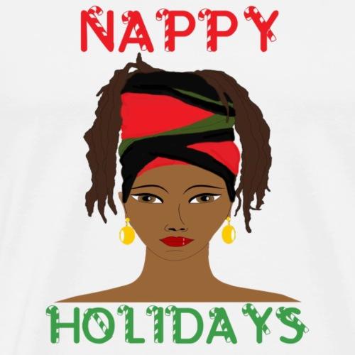 Nappy Holidays Locs - Men's Premium T-Shirt