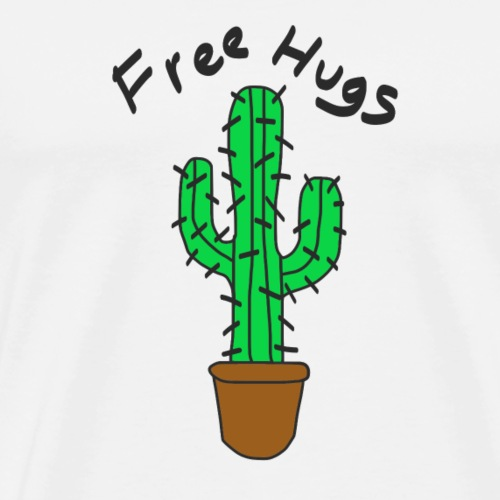 Free Hugs Cactus - Men's Premium T-Shirt