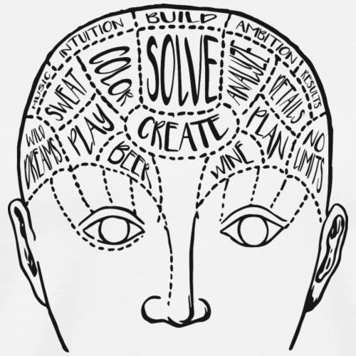 Right Brain/Left Brain - Men's Premium T-Shirt