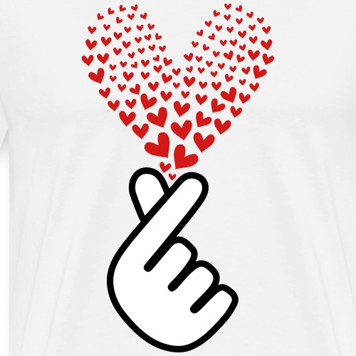 Finger_Hearts - Men's Premium T-Shirt