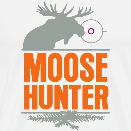 Moose Hunter Woods Hunting Wild Moose Chase Forest - Men's Premium T-Shirt