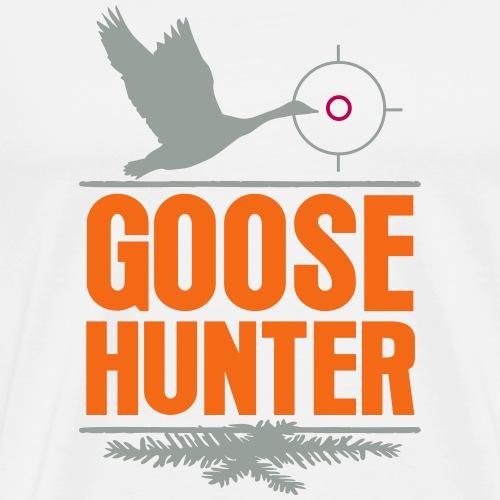 Goose Hunter Hunting Wild Goose Duck Chase Forest - Men's Premium T-Shirt