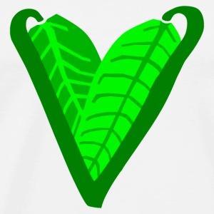 Plant-Based Heart - Men's Premium T-Shirt