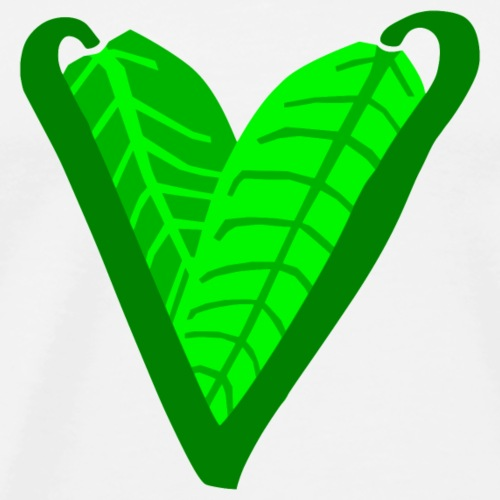 Plant-Based Heart - Men's Premium T-Shirt