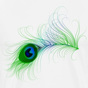 Peacock Feather - Men's Premium T-Shirt