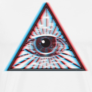 3D Illuminati Eye - Men's Premium T-Shirt