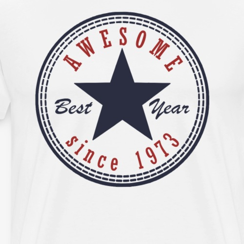 44th Birthday Awesome since T Shirt Made in 1973 - Men's Premium T-Shirt