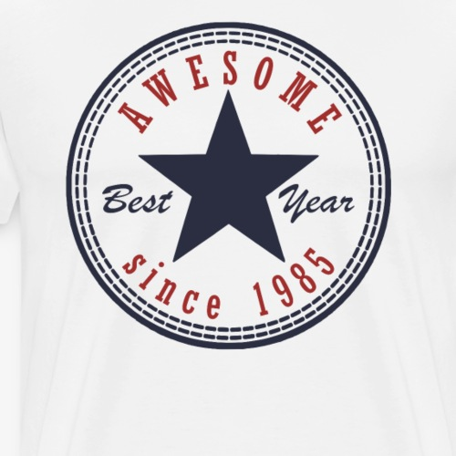 32nd Birthday Awesome since T Shirt Made in 1985 - Men's Premium T-Shirt