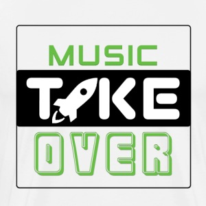 Music Take Over - Most Best For White Shirts - Men's Premium T-Shirt