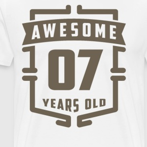 Awesome 07 Years Old - Men's Premium T-Shirt