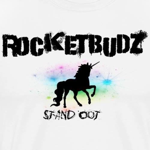 RocketBudz Unicorn Pastel Stand Out - Men's Premium T-Shirt