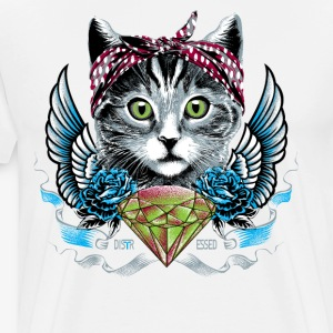 Distressed meow meow - Men's Premium T-Shirt
