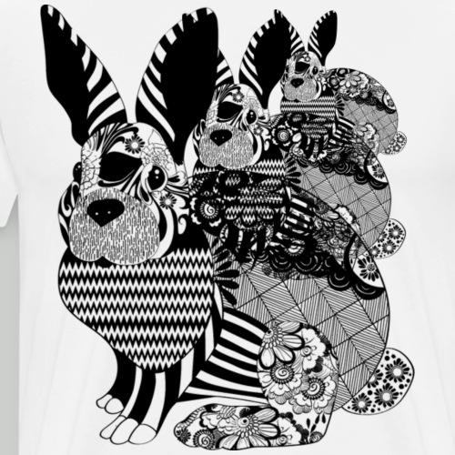 Tribal Bunny - Men's Premium T-Shirt