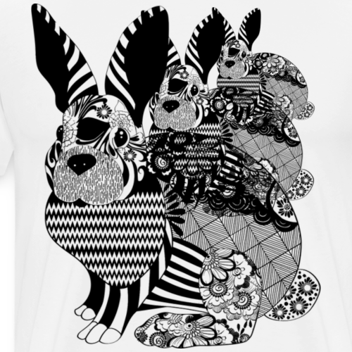 Tribal Bunny - Men's Premium T-Shirt