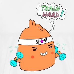 Train hard! - Men's Premium T-Shirt