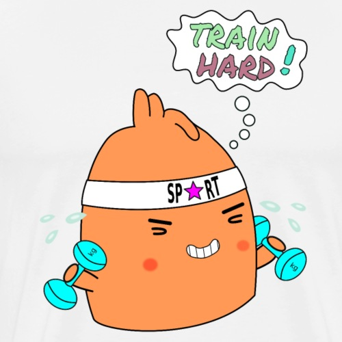 Train hard! - Men's Premium T-Shirt