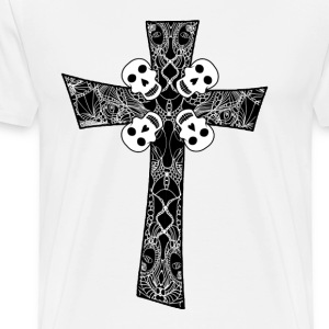 The Christ's Cross with Skull - Men's Premium T-Shirt
