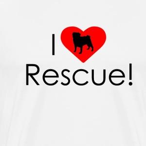 I Heart Rescue Pug - Men's Premium T-Shirt