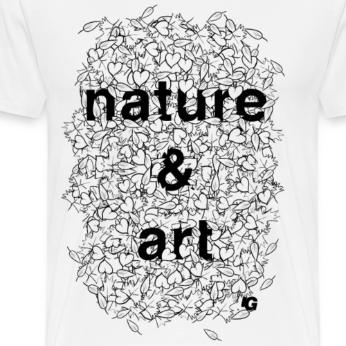 Urban Gorilla Wear Nature & Art B&W - Men's Premium T-Shirt
