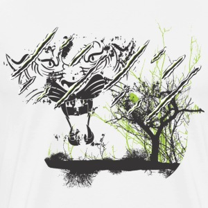 TIGER WITH TREE - Men's Premium T-Shirt