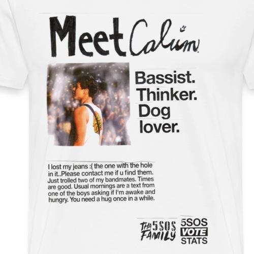 She Looks So Perfect - Meet Calum TRANSPARENT - Men's Premium T-Shirt